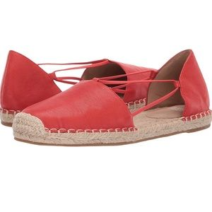 NWOT Eileen Fisher coral Lee espadrilles size 8